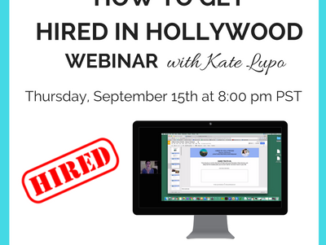 Hired in Hollywood Webinar
